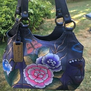 ANUSCHKA HAND PAINTED HANDBAG